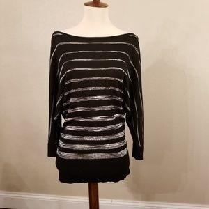 Black House White Market stretch knit top, size M
